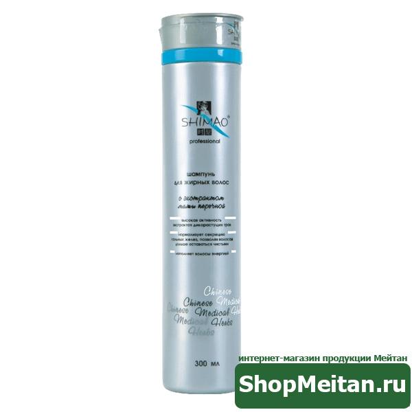 Шампунь для жирных волос с экстрактом мяты перечной, 300мл