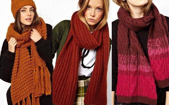 Стильные шарфы связать
